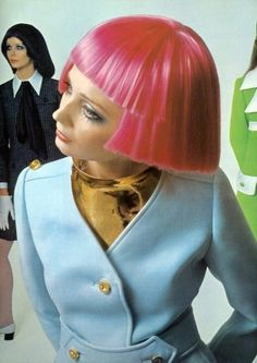 Marisa Berenson, red hair, 1969, David BAILEY, retro-futuristic fashion, 60s, fashion, 1960's, girl 60s', girl 1960's,strange hair,hairstyle by FuturisticNews.com