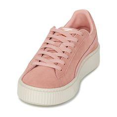 4cc9805addc Puma SUEDE PLATFORM CORE Rosa - Sapatos Sapatilhas Mulher 59