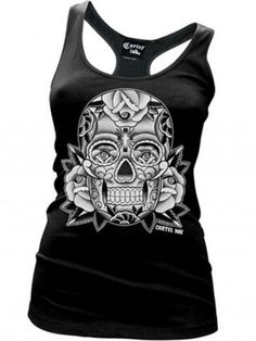 LS Neon Sugar Skull Day Of the Dead Dia De Los Muertos T-Shirt S-3XL