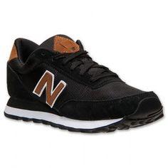 Retro New Balance 501 Hommes Chaussures Course en Noir Brun Blanc