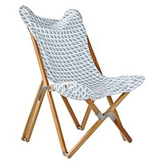Serena & Lily Captiva Butterfly Chair – Chambray, $495.00