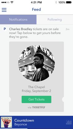 Pandora now alerts you when your favorite band is playing live     - CNET  Pandora notifies users when their favorite bands are coming to town.                                              Ticketfly                                          Pandora wants to be a bigger cog in the live-music machine.  The company on Wednesday launched new features to help users find out when their favorite artists are playing nearby alert them to upcoming shows with an email digest and allow them to set up a…