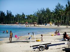 Luquillo, Puerto Rico Beach. If you stay on the coastal highway going east from San Juan, you'll soon reach Luquillo Beach. This huge plantation of majestic coconut palms shades more than a mile of fine and shimmering sand. It is one of the most popular and nicest public beaches in the San Juan area