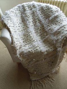 Vintage Berber Handira Wedding Blanket by MarbleandMint on Etsy, £170.00