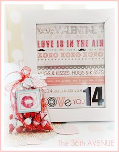 Printable Valentine's Day subway art #valentines #printable