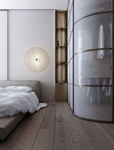 Master Bedroom Closet, Home Bedroom, Bedrooms, Master Suite, White Furniture, Furniture Design, Room Divider Curtain, Small Space Design, Living Room Modern