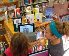 QR code library scavenger hunt from DCG Elementary Libraries