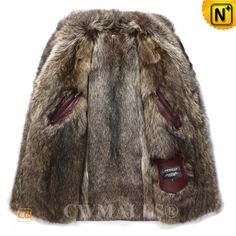 CWMALLS® Mens Fur Coat CW836022