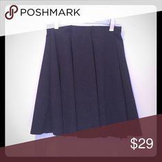 Black pleated skirt High-waisted, cotton Zara Skirts Mini