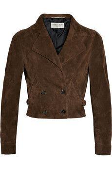 Saint Laurent Cropped suede jacket | NET-A-PORTER