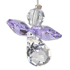 Crystal Guardian Angel Suncatcher - Light Amethyst