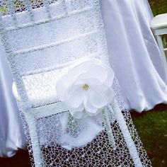 NEW wedding chair cover beautiful flower by FloraRosaDesign on Etsy