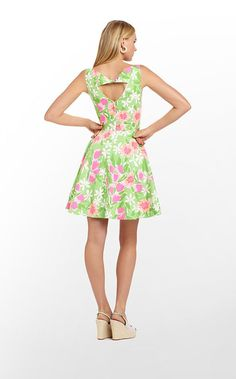 This lovely #LillyPulitzer dress is perfect for spring with its floral print.