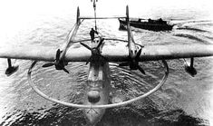 """Blohm und Voss BV138 flying boat, with """"degaussing ring"""". Used to detonate magnetic sea mines with electrical charge."""