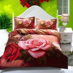 Cheap cotton fabric by the yard, Buy Quality cotton buyer directly from China cotton boot Suppliers: Chinese Style Polyester/cotton Red with Red Rose Design Bed Sheet Sets Bedding sets