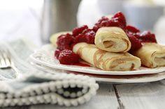 Ricotta Raspberry Crepes