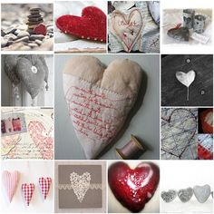 Valentines day art inspiration Heart collection by Love Stitching Red, Carolyn Saxby Heart Day, I Love Heart, Happy Heart, Valentine Heart, Valentines Day, Love Surprise, Diy Gifts, Handmade Gifts, Heart Crafts