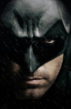 Ben Affleck as Batman.. It's like the mask was made for him!!. Gruh!.