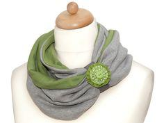 Loop  Schal  * grau - grün *