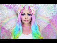 Rainbow Unicorn Makeup Tutorial !!! - Promise