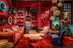 Burning red room at Maison&Objet 2013.