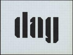 Dag (ontwerp van Jurriaan Schrofer ter gelegenheid van de zeventigste verjaardag van Jan Bons)