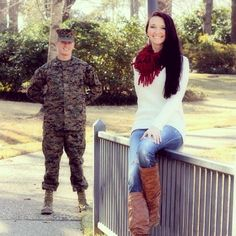 Marine corps love. Engagement photos