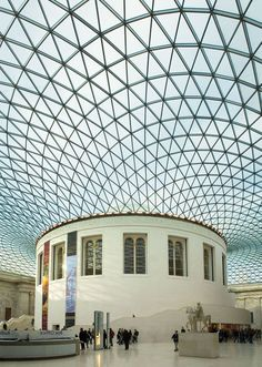 Great Court British Museum  #Foster #Norman Pinned by www.modlar.com