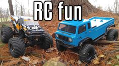 RC Fun - SCX10 Jeep Mighty FC & Wheely King Trail Hike