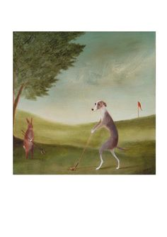 Art Print of an Original Animal Painting: Allan by TheLitusGallery