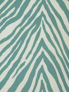 OD Zebra Skin Aquamarine, p Kaufman 10.95/yd .... NEED to find a rug like this!!! Pillows will suffice in the mean time.