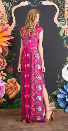Vestido Longo Flor de Framboesa II
