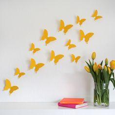 Vintage D Schmetterlinge Stk schwarz Wanddeko M von deinewandkunst auf DaWanda Interior Pinterest Interiors