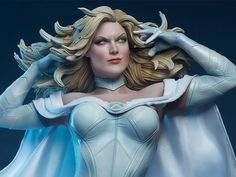 Marvel Premium Format Emma Frost From Sideshow Toy Marvel Women, Ms Marvel, Captain Marvel, Marvel Comics, Emma Frost, Comic Book Characters, Female Characters, Sideshow Toys, Marvel Heroines