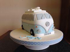 VW Camper novelty cake Ideas Para Fiestas, Novelty Cakes, Vw Camper, Butter Dish, Cake Designs, Biscuits, Tasty, Treats, Sweet