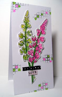 Scrapcolour: Cas on Friday Use your favorite flower stamp Flower Stamp, Fun Challenges, Some Ideas, Greeting Cards Handmade, Simply Beautiful, Starters, Different Colors, Your Favorite, Craft Supplies