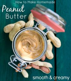 Thee Best Homemade Peanut Butter Recipe by www.bakerette.com on www.whatscookingwithruthie.com