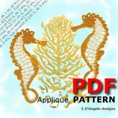 Crochet Patterns SEAHORSE by LassCrochet on Etsy, $3.99