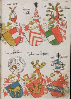 Wappenbuch des St. Galler Abtes Ulrich Rösch Heidelberg 15. Jahrhundert Cod. Sang. 1084 Folio 316
