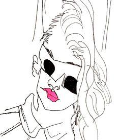 belle BRUT sketchbook: #miumiu #fashion #style #illustration #blindcontour  © belle BRUT 2014 http://bellebrut.tumblr.com/post/93743168630/belle-brut-sketchbook-miumiu-fashion-style