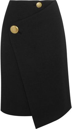 Balenciaga Asymmetric Wool Wrap Skirt