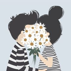 "This illustration is perfect for something ""love"" related. Very creative! Art And Illustration, Illustration Mignonne, Inspiration Art, Grafik Design, Art Design, Mail Art, Cute Wallpapers, Illustrators, Iphone Wallpaper"