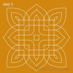 This page provides Dot Rangoli Designs with title Dot Rangoli 22 for Hindu festivals. Indian Rangoli Designs, Rangoli Designs Images, Rangoli Designs With Dots, Rangoli With Dots, Beautiful Rangoli Designs, Simple Rangoli, Mehandi Designs, Rangoli Borders, Rangoli Patterns