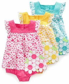First Impressions Baby Bodysuit, Baby Girls Floral Sunsuit