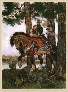 "Illustrations by Nikolai Kochergin for Alexander Pushkin's poem ""Ruslan and Lyudmila"" Classical Art, Romantic Art, Art Painting, Russian Art, Fantasy Art, Illustration Art, Art, Fairytale Art, Beautiful Art"