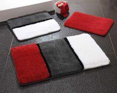Acrylic Bath Rug Set of 3 Newborn Crochet Patterns, Crochet Ideas, Black And Grey Rugs, Punch Needle Patterns, Fru Fru, Diy Purse, Rugs On Carpet, Carpets, Bath Rugs