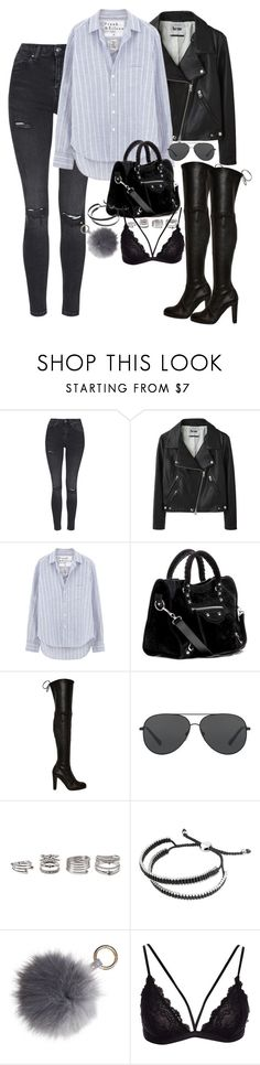 """Untitled #67"" by marinas-clothes ❤ liked on Polyvore featuring Topshop, Acne Studios, Frank & Eileen, Balenciaga, Stuart Weitzman, Michael Kors, Forever 21 and Links of London"