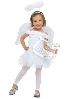 Angel Costumes - This adorable Little AngelCostume includes the white dress, wings, and the matching halo headband. Description from costumesplanet.com. I searched for this on bing.com/images