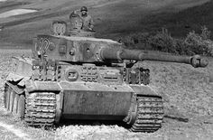 "In mid-July of 1943, ""Tiger"" tanks of the German Army during the heavy fighting south of Orel, during the Battle of Kursk. Description from deviantart.com. I searched for this on bing.com/images"