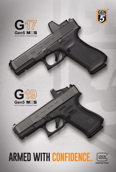 We received word from Glock, Inc today that they have announced a few new models to their lineup. In two separate press releases, we've seen 3 new pistols. Glock Guns, Airsoft Guns, Weapons Guns, Guns And Ammo, Bushcraft, Custom Glock, Home Defense, Firearms, Shotguns